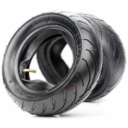 BIKIGHT Neumático trasero delantero + tubo interior para 47cc-49cc Mini bolsillo bici Xiaomi Scooters eléctricos e-Bike