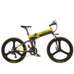 LANKELEISI XT750-Z 10Ah 48V 400W 26 pulgadas ciclomotor bicicleta eléctrica bicicleta plegable 80Km kilometraje carga má