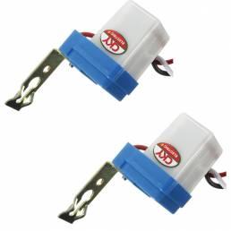 Interruptor de luz de calle de fotocélula 2PCS Encendido automático apagado AC DC 12V 50-60HZ 10A Controlador de fotos P
