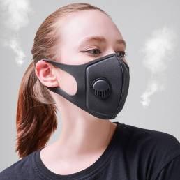 10 PCS PM2.5 Anti Cara de contaminación del aire Mascara Boca de carbón activado transpirable Mascara cámping Ciclismo d