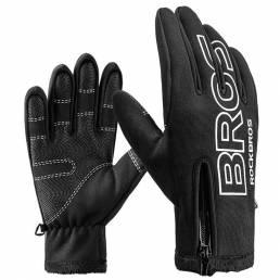 ROCKBROS S091-4 Ciclismo cálido de invierno Guantes Pantalla táctil de dedo completo Montar bicicleta MTB Bicicleta Guan