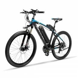 LANKELEISI T8 13Ah 48V 400W bicicleta de ciclomotor plegable 26 pulgadas 100 km de carga máxima de 120 kg con enchufe de