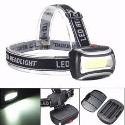 BIKIGHT TH-125 600LM Linterna frontal recargable COB cámping Linterna de ciclismo Luz de advertencia nocturna