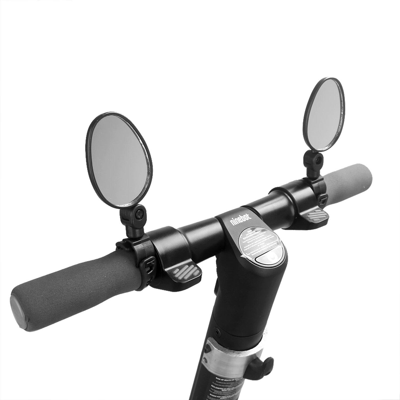 BIKIGHT 1 par de espejo retrovisor ovalado giratorio de 360 ° para XIAOMI M365 Ninebot piezas de reflector de puerta de