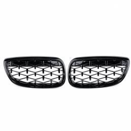 2 piezas de rejilla frontal Girll Black Diamond Meteor para BMW 3 Series E90 E92 E93 2006-2010