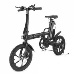 CMSBIKE F16-PLUS 13Ah 250W Negro 16 Pulgadas Bicicleta eléctrica plegable 25km / h 80km Kilometraje Sistema inteligente