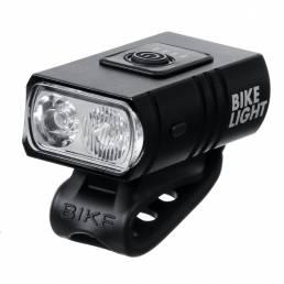 BIKIGHT 6 modos doble T6 1000 mAh Faro de bicicleta USB recargable Impermeable LED Luz delantera de bicicleta Ciclismo F