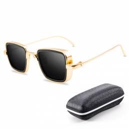 BIKIGHT UV400 Gafas de sol vendimia Steampunk Metal Square Eye-wear Sun Gafas para hombres Mujer