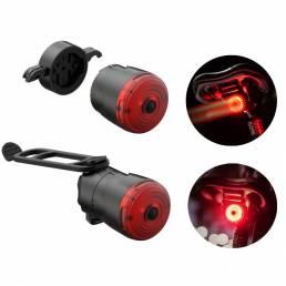 XANES® 6Modes 400mAh USB Luz de cola de bicicleta recargable Luz de advertencia de bicicleta de inducción inteligente Ac