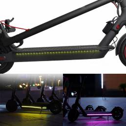 Luz recargable Cinturón para scooter eléctrico M365/Pro Colorful Lámpara Cinturón Luz nocturna para bicicleta 2 modos