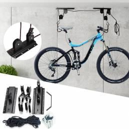 Estante de almacenamiento de bicicletas Sistema de polea de elevación de bicicleta montado en la pared Bicicleta Percha