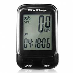 CoolChange 57019 Computadora de bicicleta Wireless Impermeable Odómetro del velocímetro con LCD Retroiluminación