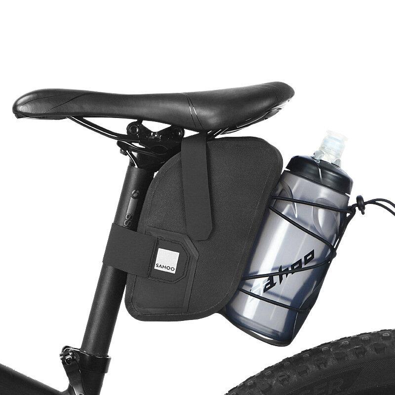 Bicicleta SAHOO 1.5L Bolsa Impermeable Sillín de bicicleta Bolsa Botella de agua de bolsillo Cola de bicicleta Bolsa al