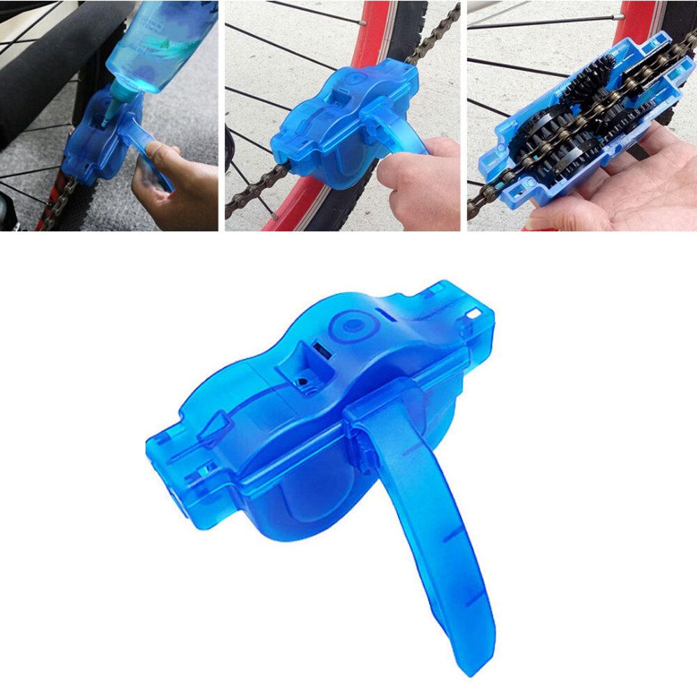 BIKIGHT Limpiador de cadenas de bicicletas Lavado de bicicletas herramienta Reparación de bicicletas herramientas al air