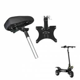 BOYUEDA asiento de scooter eléctrico de 10 pulgadas ajustable amortiguador Soft esponja de cuero monopatín accesorios de