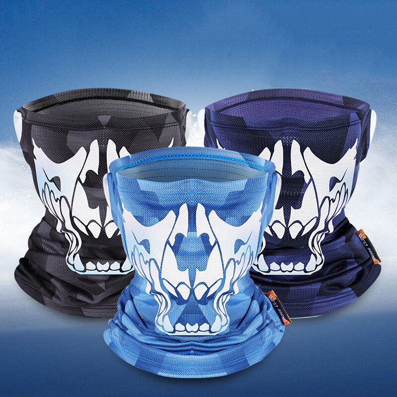 WEST BIKING Ice Silk UV400 Protección solar Cara de montar Mascara Bufanda de seda de hielo transpirable con fuerte elas