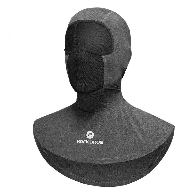 ROCKBROS UV > 50 Protección solar Seda de hielo Transpirable al aire libre Ciclismo Mascara Advertencia reflectante de c