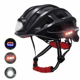 Bicicleta de casco de ciclismo ROCKBROS Impermeable luz para carretera MTB bicicleta carga USB para Flido D4s