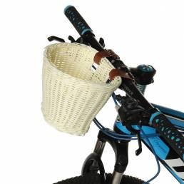 BIKIGHT Niños Niños Bicicleta de ratán Bicicleta Cesta delantera Correa de cuero Almacenamiento de compras Caso Biciclet