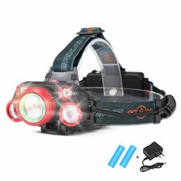 1000LM 5 LED Faro 5 modos Linterna ajustable IPX6 Impermeable Recargable Trabajo Lámpara al aire libre cámping Ciclismo