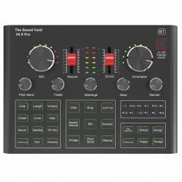 V9X PRO Mezclador de tarjetas de sonido Juego de grabación de transmisión en vivo Micrófono Teléfono Computadora Karaoke