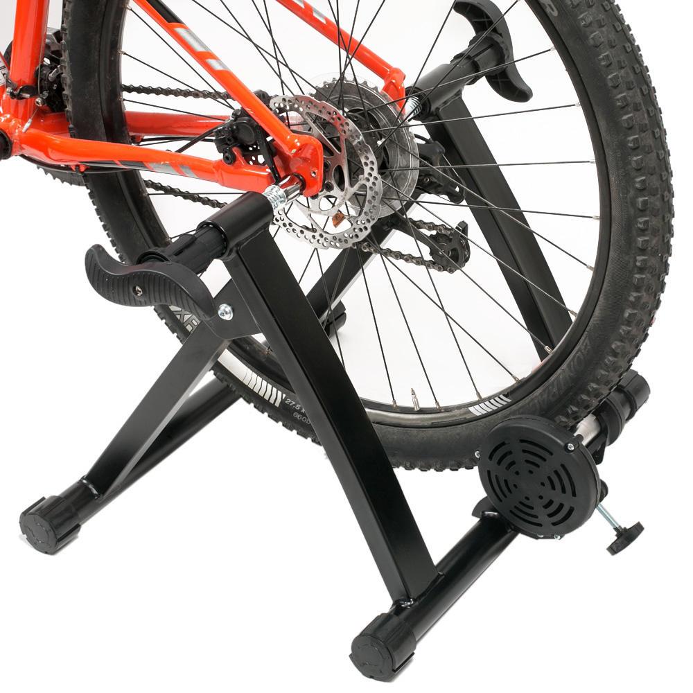 Estación de entrenamiento interior de bicicleta de plástico de acero apta para 660-700mm MTB Mountain Road Bicicleta de