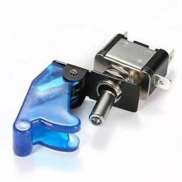 10x cubierta del coche azul LED spst palanca de control del interruptor basculante 12v 20a