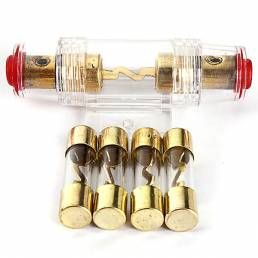 Audio del coche portafusibles agu reinstala cable de calibre 4/8 con 4pcs fusible de 100 amperios