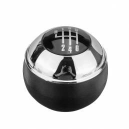 Perilla de cambio manual de 6 velocidades Cromo negro para MINI R50 R52 R53 COOPER 25117542272