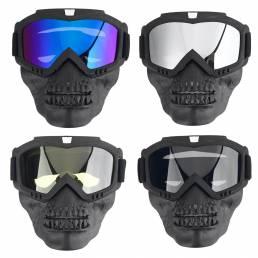 Gafas de moto Cara desmontable Mascara Antipolvo Protección contra la lluvia y la nieve Ciclismo Off-Road Eyewear