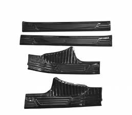 4Pcs Coche Tira de alféizar de puerta de fibra de Cochebon Placa Etiqueta protectora de borde de cubierta Anti Scratch 3