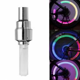 50Pcs XANES WL04 boquilla de luz de la rueda de la bicicleta de la inducción de la vibración habló la luz para la válvul