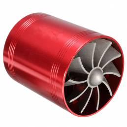 Universal Sobrealimentador Turbo de Coche de Dual Ventilador