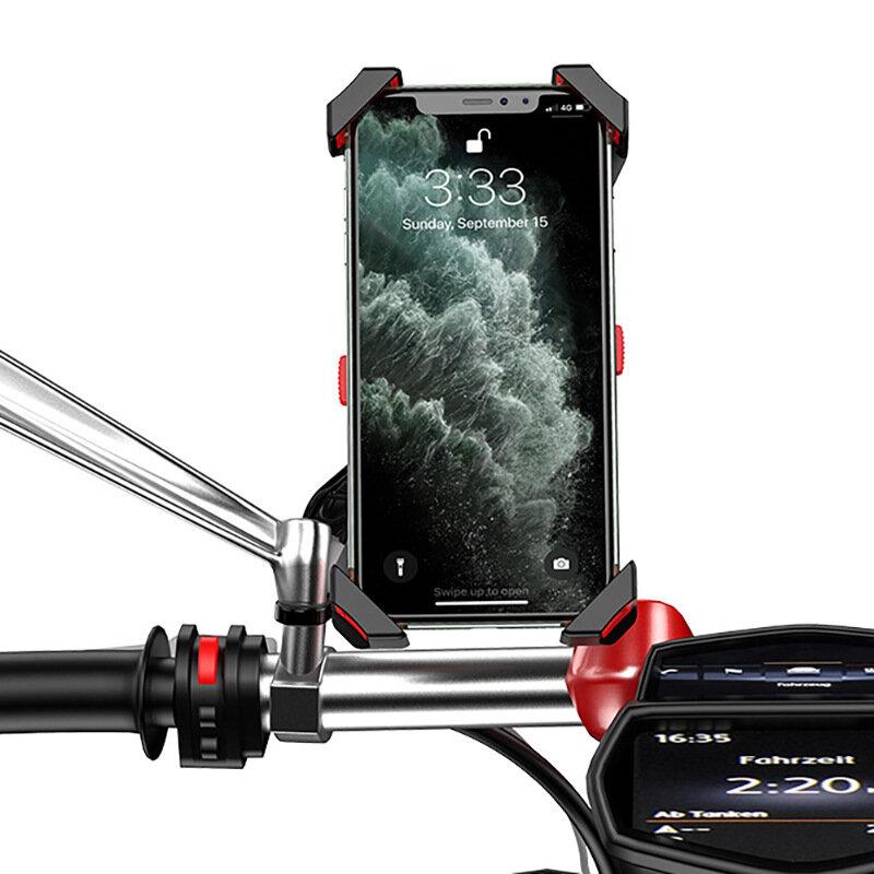4.7-6.5 pulgadas Soporte de teléfono de bicicleta ajustable Absorción de golpes GPS Soporte de clip de teléfono Soporte