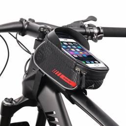 Bicicleta WHEEL UP Bolsa Marco delantero Bicicleta MTB Bolsa Impermeable Pantalla táctil Tubo superior 6-7