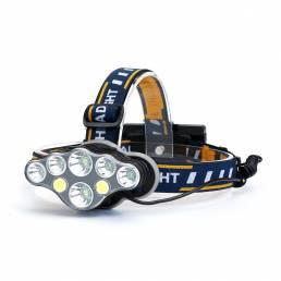 XANES®2606-8A3300LM2T6+4 * XPE + 2 * COB LED Faros delanteros 8 modos con 2 * 18650 Baterí