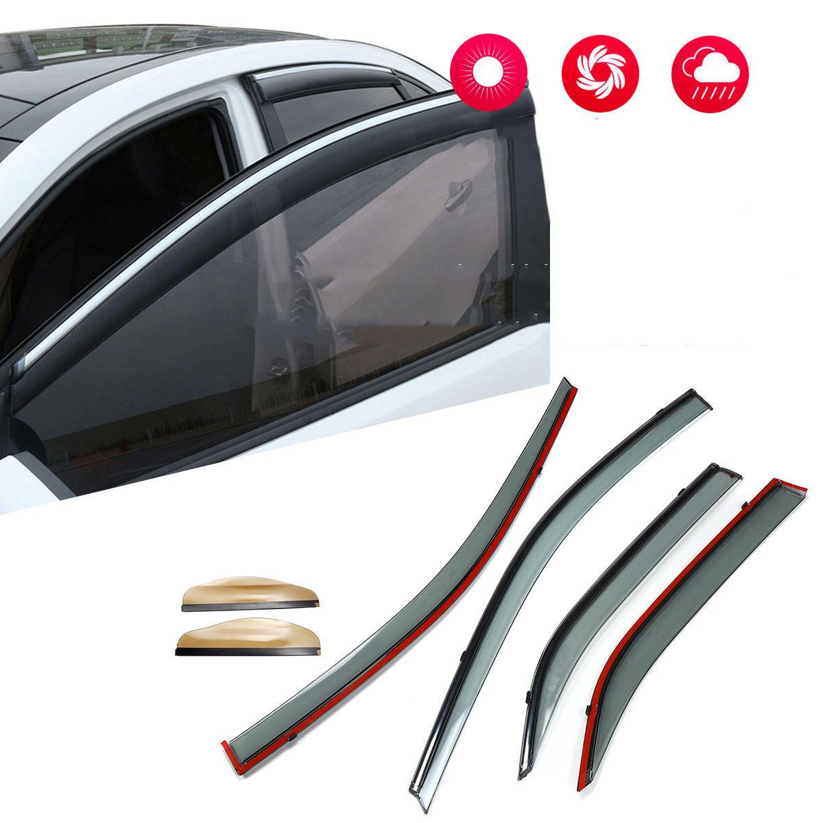 Visor de la ventana Guardia contra la lluvia Vent Sun Shade Deflectores de viento para Toyota Camry 2012-2016