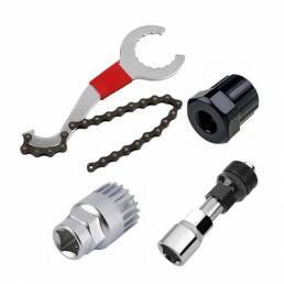 BIKIGHTJuegodereparacióndebicicletas herramienta Juego de remoción de cadena / Látigo de c