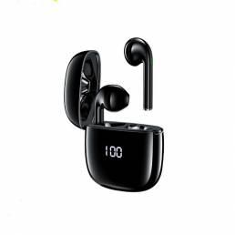 AWEI T28P TWS Bluetooth inalámbrico 5.0 Auricular Pantalla digital Pantalla Impermeable Auriculares con cancelación de r
