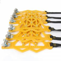 Car Tendon Snow Tire Chain Universal para neumáticos 165-275 mm 6 piezas + Guantes + pala de nieve + Llave