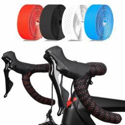 WEST BIKING 2PCS Soft Correa para manillar de bicicleta Cinta antideslizante resistente al desgaste EVA Cinta para manil