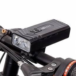 BIKIGHT 2 * T6 LED Luces de bicicleta Faros de bicicleta Carga USB Linterna de ciclismo resaltada 1200mAh Luz delantera