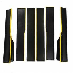 2.2M / 86.6 Inch Divisor de panel basculante de extensión de faldón lateral negro universal Línea amarilla