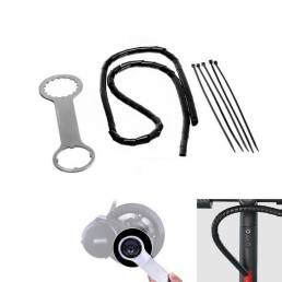 BAFANG Llave 1m Line Organizador Espiral Wrap Protector 5 Pcs Vendaje Accesorios para bicicletas eléctricas
