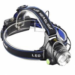 XANES® 568D 650LM T6 LED HeadLamp Impermeable 3 modos Zoom telescópico Recargable Funcionamiento cámping Luz de ciclismo