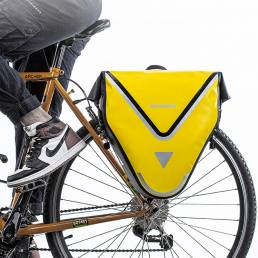 ROCKBROS 20L 100% Impermeable Bicicleta Bolsa y alforjas MTB Bicicleta de carretera Bolsa Bastidor trasero Estante de ci