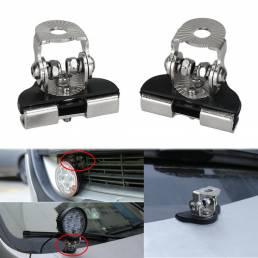 2PCS Coche Soporte universal para puerta de capó LED Soporte de montaje de base de barra de luz de trabajo Lámpara Sopor