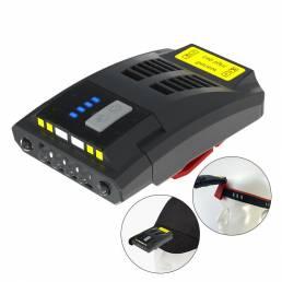 XANES® K150 USB recargable LED Encendido del faro de bicicleta Pantalla Luz de clip para tapa de inducción 5 modos Cicli