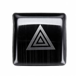 Interruptor de luz de emergencia del coche Cubierta decorativa Ajuste negro para Toyota Camry 2018