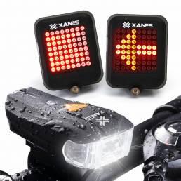 XANES 600LM German Estándar Luz Delantera de la Bici 64 LED Inteligente Alarma de Freno Juego de la Luz Trasera